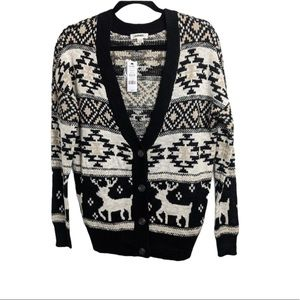 Oversize button front cardigan